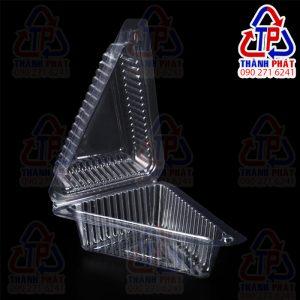 Hộp tam giác nhọn nắp gập - Hộp tam giác đựng bánh kem