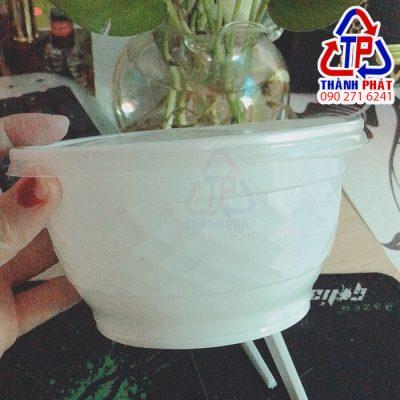 Tô nhựa 650ml - Tô nhựa đựng cháo - Tô nhựa đựng súp - Tô nhựa đựng mì trộn - Tô nhựa đựng salad