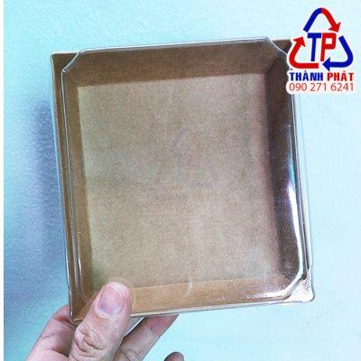 Hộp giấy kraft vuông 1413 - Hộp giấy kraft nắp nhựa 1413