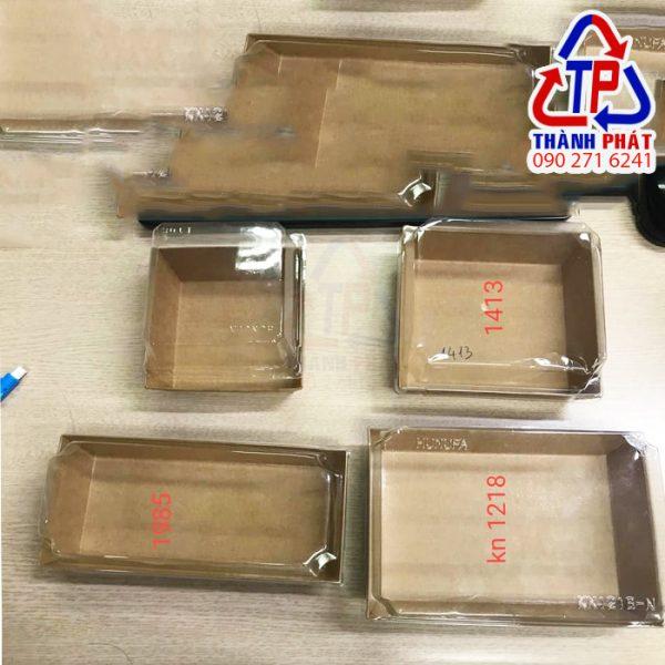Hộp giấy kraft chữ nhật 1218 - Hộp giấy kraft nắp nhựa hình chữ nhật