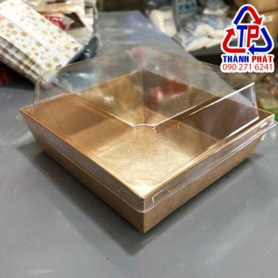 Hộp giấy kraft vuông E108 - Hộp giấy kraft nắp trong