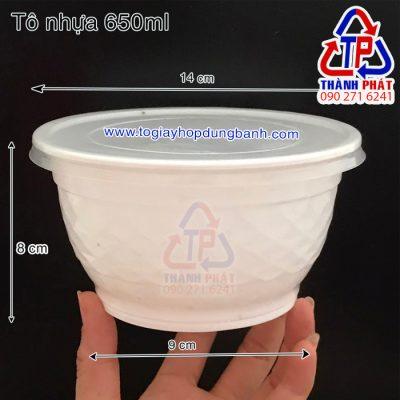 tô nhựa 650ml - tô nhựa đựng mì trộn