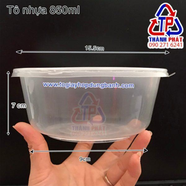 tô nhựa đựng hủ tiếu có nắp - tô nhựa đựng thức ăn nóng lạnh 850ml