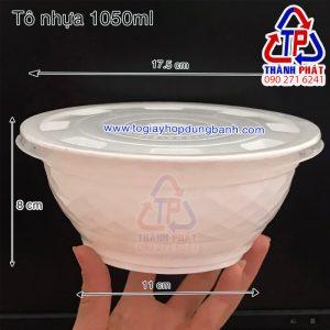 tô nhựa 1050ml - tô nhựa đựng hủ tiếu - tô nhựa đựng bún thịt nướng - tô nhựa đựng phở