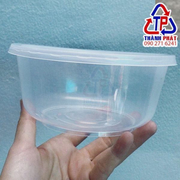Tô nhựa 800ml - Tô nhựa đựng hủ tiếu - Tô nhựa đựng thức ăn nóng lạnh có nắp