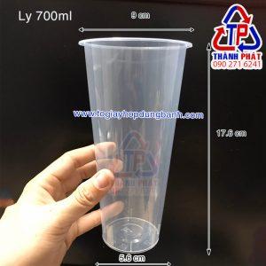 Ly nhựa cứng nắp tim 700ml - Ly nhựa cứng nắp tim