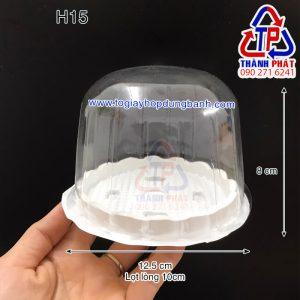 Hộp H15 bầu - Hộp H15 nắp vòm - Hộp đựng bánh bông lan nhỏ - Hộp đựng bánh kem nhỏ