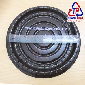 Hộp A024 - Hộp nhựa A024 - Hộp nhựa đựng bánh bông lan 20cm - Hộp đựng bánh đào tiên