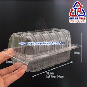 Hộp H149 - Hộp nhựa nắp gập H149 - Hộp nhựa H149 đựng bánh mì chà bông