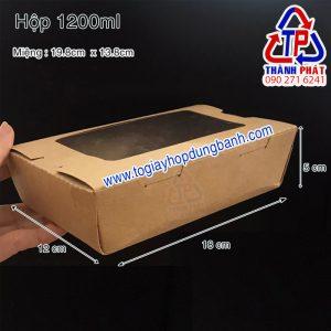 Hộp giấy kraft nắp kính - Hộp giấy nắp kính - Hộp giấy cửa sổ w1200 - Hộp giấy kraft mặt kính