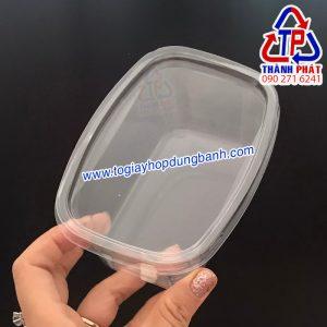 Hộp nhựa PET XY092 - Hộp trong XY092 - Hộp chữ nhật đựng bánh tiramisu, mousse, yaourt, Panna Cotta