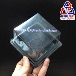 Hộp nhựa đựng bánh trung từ 100g -150g - Hộp nhựa đựng bánh trung thu rau câu 150g