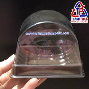 Hộp nhựa A93 - Hộp nhựa đựng bánh bông lan cắt lát A93 - Hộp đựng bánh bông lan cuộn lát nhỏ