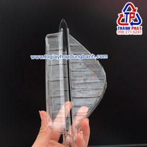 Hộp tam giác đựng bánh sanwhich - Hộp nhựa đựng sanwhich mang đi - hộp dùng 1 lần đựng sanwhich
