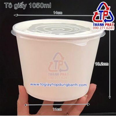 Tô giấy có nắp đựng thức ăn nóng lạnh - Tô giấy đựng hủ tiếu- tô giấy đựng phở - tô giấy 36oz