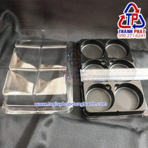 Hộp nhựa đựng 6 bánh trung thu mini FG332 - Hộp đựng bánh mochi 6 ngăn FG332