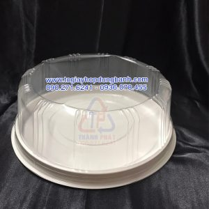 Hộp nhựa H122 đựng rau câu 3D size 25cm - Hộp nhựa đựng bánh 25cm