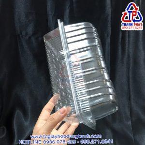 Hộp H143 - Hộp nhựa đựng bánh mì hoa cúc - Hộp đựng bánh mì chà bông - Hộp đựng bánh mì phô mai tan chảy H143