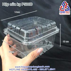 Hộp P500D - Hộp nhựa đựng nửa kg - Họp đựng 0.5kg trái cây