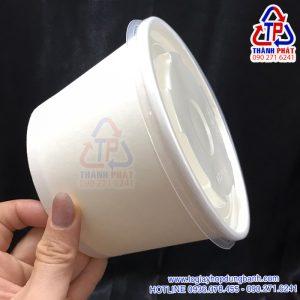 Tô giấy 800ml đựng hủ tiếu - Tô giấy đựng phở mang đi - Tô giấy đựng thức ăn nóng lạnh - Tô giấy đựng trái cây tô