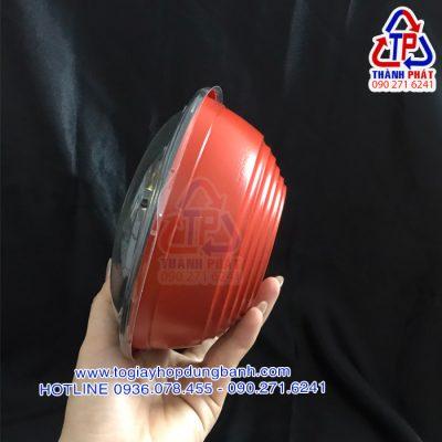 Tô nhựa HT27 - Tô đỏ đen HT27 - Tô đựng bún thịt nướng mang đi - Tô đựng mì trộn mang đi - tô đựng thức ăn nóng lạnh mang đi
