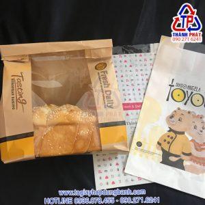 Túi giấy đựng bánh mì hoa cúc - túi giấy ngang đựng bánh mì hoa cúc - Túi giấy bánh mì hoa cúc