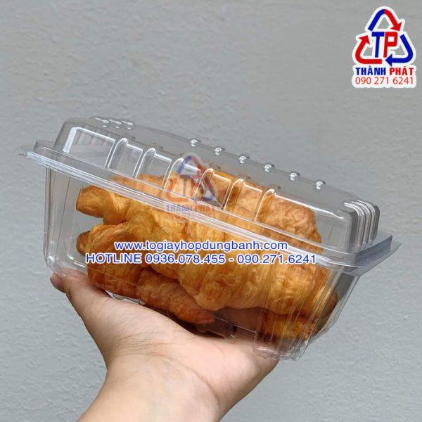 Hộp H145 đựng bánh sừng trâu - Hộp H145 đựng bánh bông lan trứng muối - Hộp H145 đựng bánh su kem