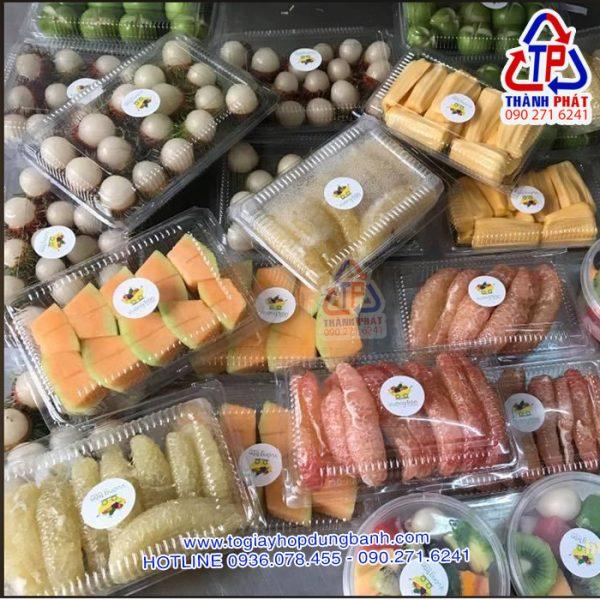 Hộp H55 đựng bánh su kem - Hộp H55 đựng bánh crep sầu riêng - Hộp H55 đựng bánh tráng trộn - Hộp H55 đựng sushi