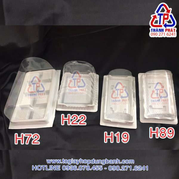 Hộp H89 đựng bánh bông lan cuộn - Hộp h89 đựng bánh bông lan chà bông - Hộp nhựa H89