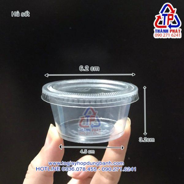 Hủ sốt đựng tương ớt - Hủ đựng nước chấm - Hủ sốt 60ml - Hủ sốt 2oz - Hủ đựng nước chấm