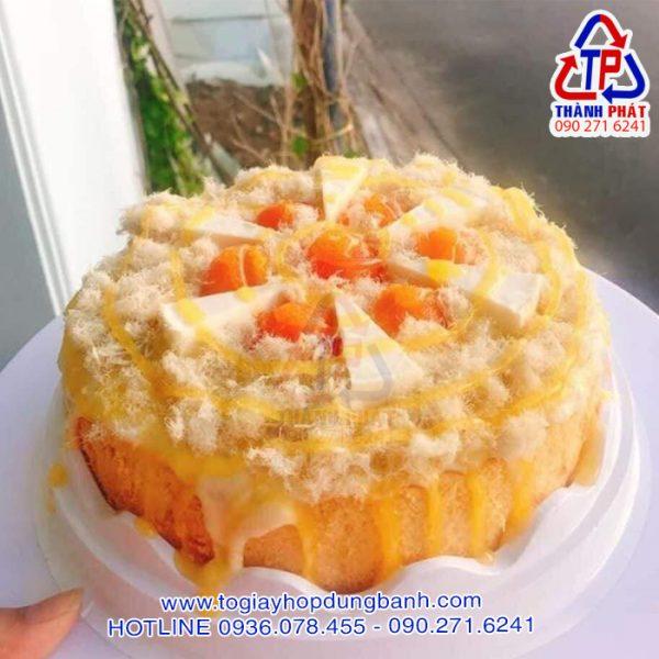 Hộp H47 cao - Hộp H47 đựng bánh bông lan trứng muối 19cm - Hộp H47 cao đựng bánh kem 19cm