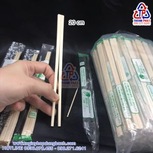 Đũa tre tách gỗ nhật bọc OPP - Đũa tre tách bao gồm tăm có bọc OPP - Đũa tre dùng 1 lần mang đi