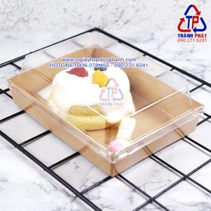 Hộp giấy kraft CL1317 - Hộp giấy kraft chữ nhật dùng đựng bánh - Hộp giấy kraft chữ nhật nắp trong CL1317