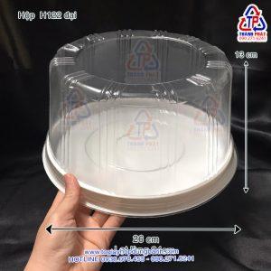 Hộp H122 đại đựng rau câu 3D trái tim - Hộp H122 cao đựng bánh kem 24cm - Hộp đựng bánh rau câu 3D size 24cm