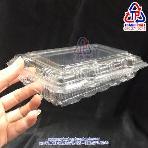 Hộp nhựa H148 - Hộp nhựa đựng bánh có nút bấm H148 - Hộp H148