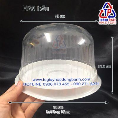 Hộp H25 bầu - Hộp H25 mô - Hộp H25 bầu đựng bánh bông lan trứng muối 16cm - hộp đựng bánh kem 16cm - Hộp đựng bánh gato 16cm