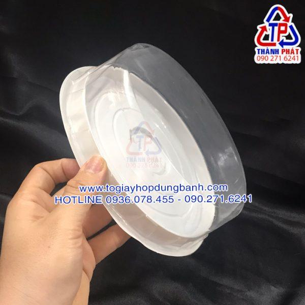 Hộp H25 thấp - Hộp H25 thấp đựng bánh gato 16cm - Hộp đựng bánh bông lan trứng muối 16cm - hộp đựng rau câu 3D
