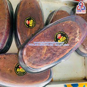 Hộp oval đế đen H12 đựng bánh bò thốt nốt - Hộp oval đựng bánh khuôn D8 - Hộp oval đựng bánh mì hoa cúc